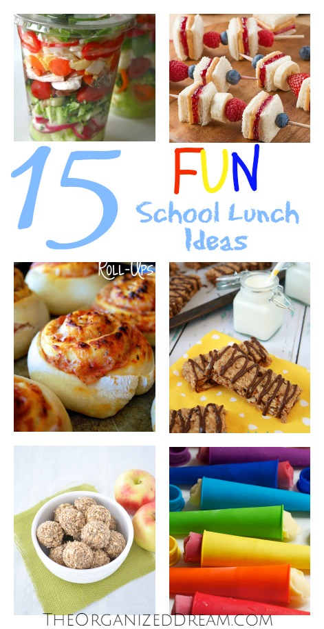 Fun school lunch ideas.