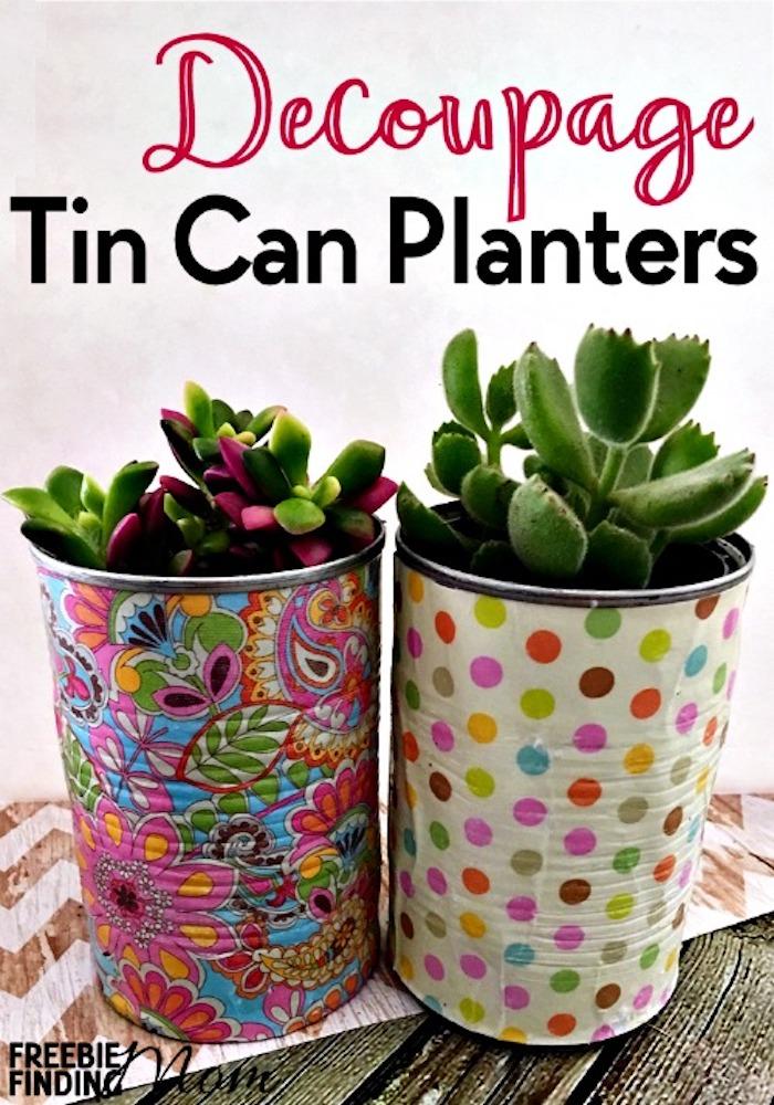 10  maneras creativas de reciclar latas. Maceteros para suculentas.
