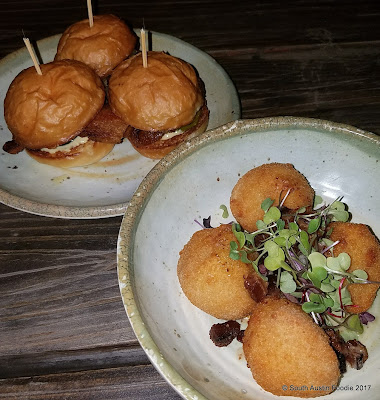 Little Darlin pork sliders + pimento croquettes