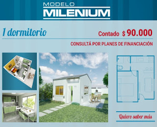 Viviendas Anahi precios 2018 1 dormitorio modelo milenium