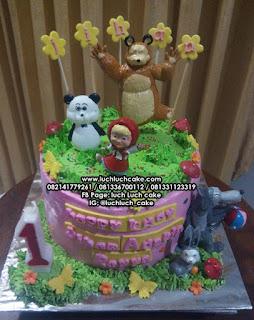 Masha and The Bear Birthday Cake Buttercream