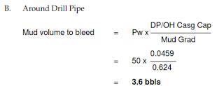 mud volume bleed volumetric method
