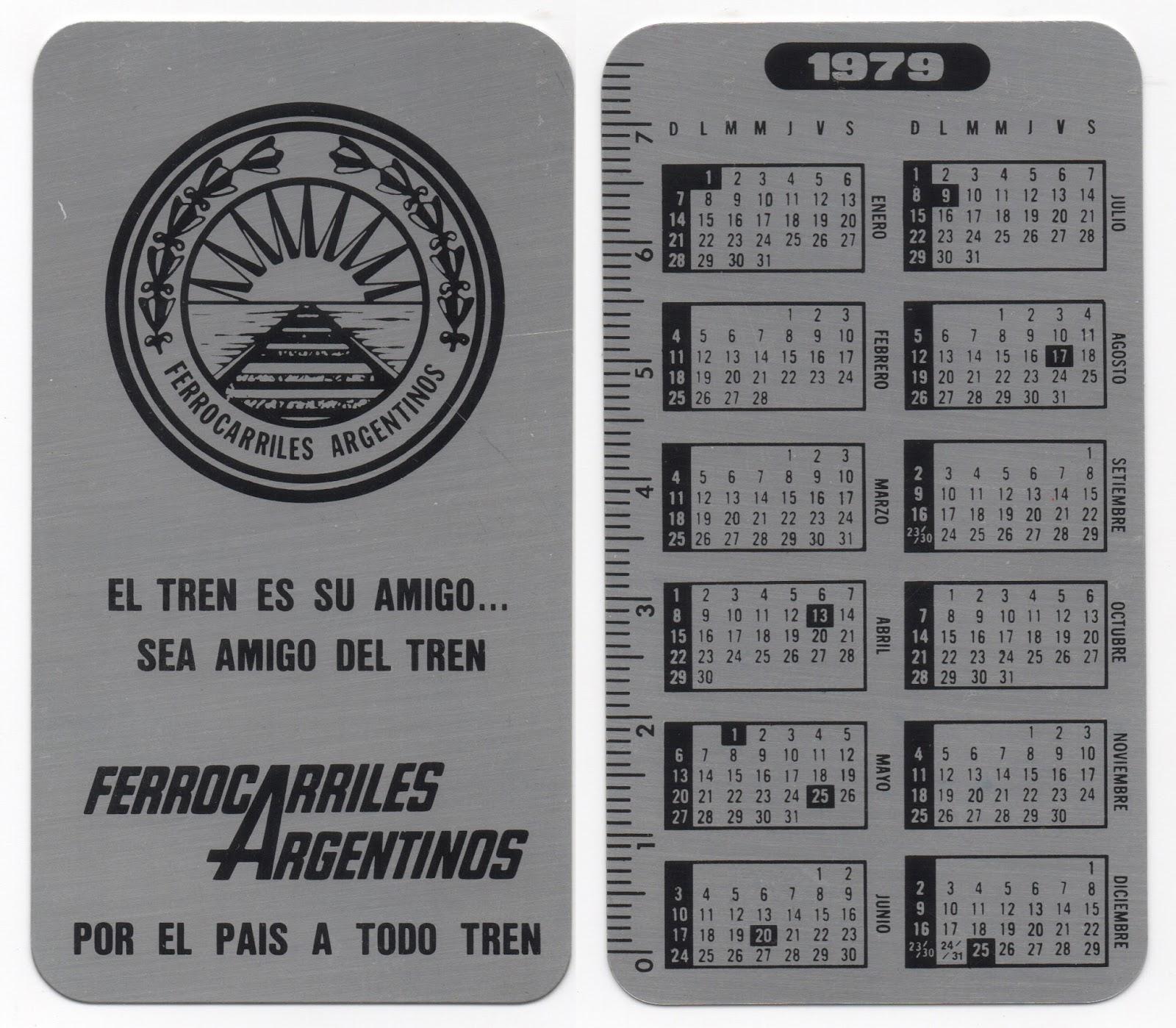 Calendario Del 1979.Calendarios De Bolsillo Calendario De 1979