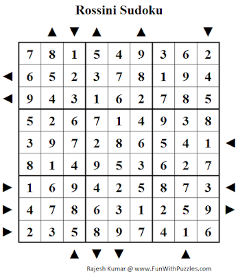Rossini Sudoku (Fun With Sudoku #229) Puzzle Solution