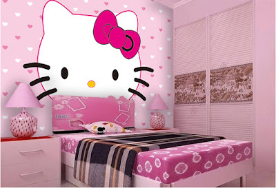 Trang tri phong ngu Hello Kitty dep 13