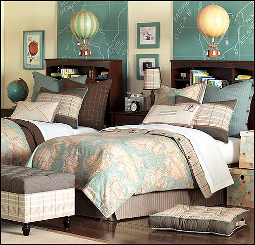 Travel Inspired Bedroom Designs Are Sophisticated And Elegant: Maries Manor: Hot Air Balloon