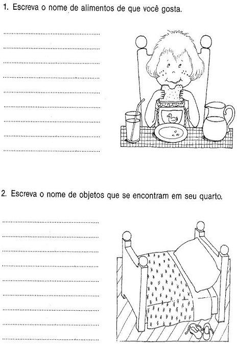 Diversas Producoes De Textos Alfabetizacao Para Imprimir E Colorir