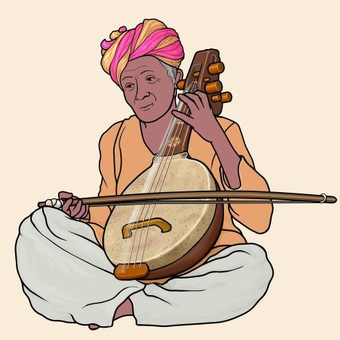 カマイチャ ( kamaicha / khamaycha ) インドの弦楽器