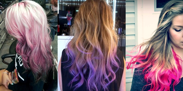 Dip-dyed Colorful Hairstyles! - The HairCut Web