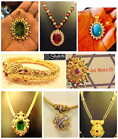 Gold necklace - different designs of Jewelry