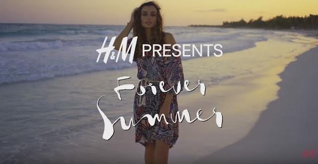 Canzone e modella Pubblicità H&M Costumi estate 2016