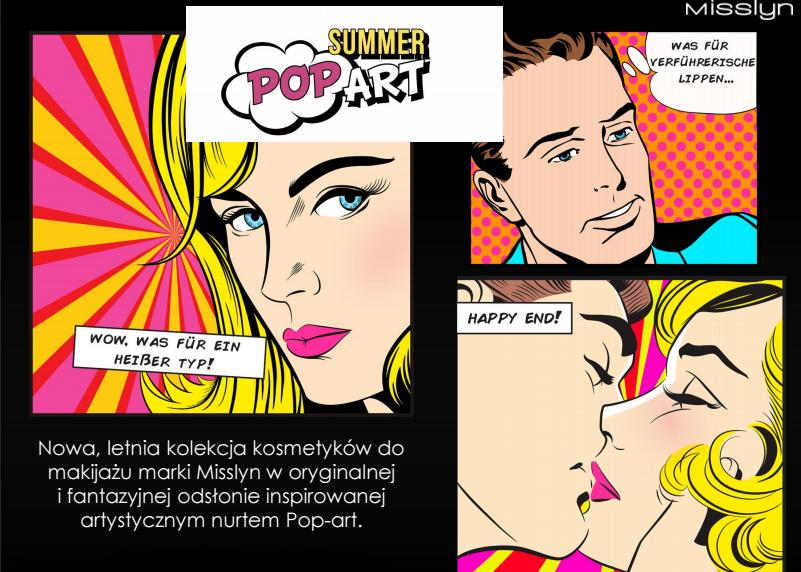 W skład kolekcji 'Summer Pop Art' wchodzą pomadki dostępne w trzech wariantach kolorystycznych, róże do policzków o matowym i błyszczącym wykończeniu w dwóch odcieniach oraz dwa matowe bronzery. Wyjątkowe, komiksowe opakowanie z pewnością spodoba się miłośniczkom oryginalnych i nietuzinkowych kosmetyków.  To propozycja dla kobiet, które lubią sięgać po produkty, które swoim wzornictwem odbiegają od tradycyjnego minimalizmu.