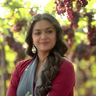Keerthy Suresh in Maroon with Cute and Lovely Smile in Latest Ad 3