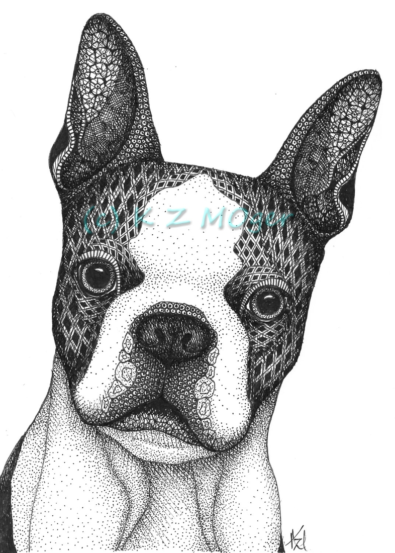 07-The-French-bulldog-Frenchie-Kristin-Moger-Domestic-and-Wild-Zentangle-Animal-Portraits-www-designstack-co