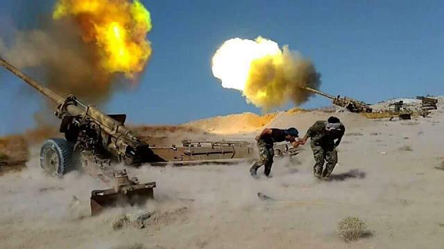 """وحدات الجيش تشدد إحكام الطوق على من تبقى من إرهابيي """"داعش"""" في منطقة تلول الصفا"""