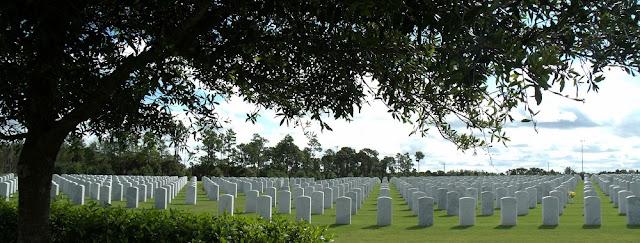 Vista panorámica del South Florida National Cemetery