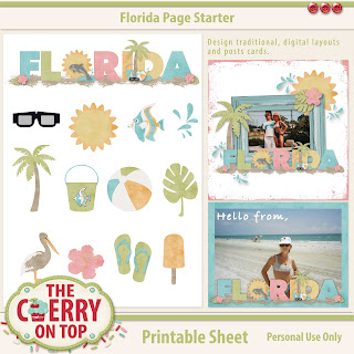 Florida Page Starter Kit, print, cut and scrap