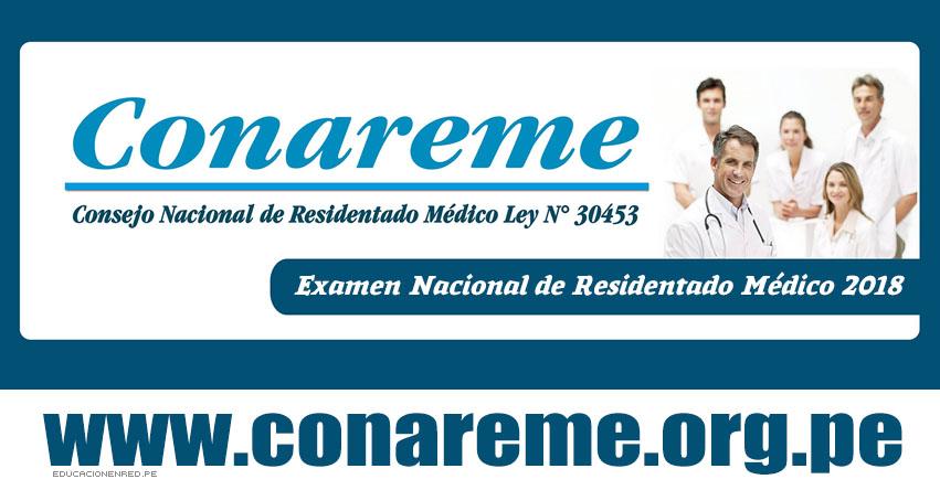 CONAREME 2018: Ingresantes Residentado Médico (Resultados 04 Junio) Consejo Nacional de Residentado Médico - www.conareme.org.pe