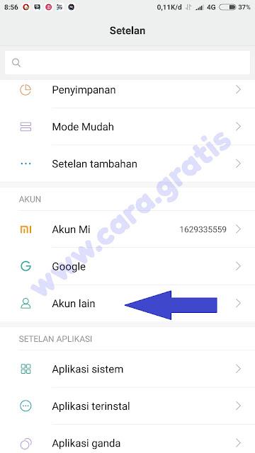Pengaturan Google Xiaomi