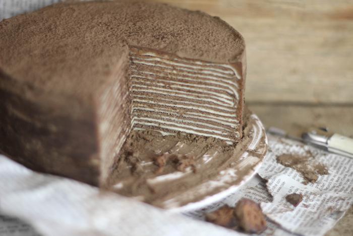 Chocolate Caramel Mille Crepes Cake Recipe