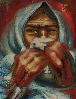 David Alfaro Siqueiros, Mujer llorando. 1944.