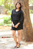 Actress Hebah Patel Stills in Black Mini Dress at Angel Movie Teaser Launch  0094.JPG