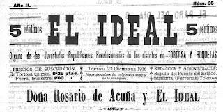 Cabecera de El Ideal, Tortosa, 21-12-1916