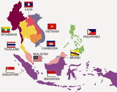 Peta Negara ASEAN