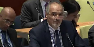 Syria's Permanent Representative at the UN Dr. Bashar al-Jaafari