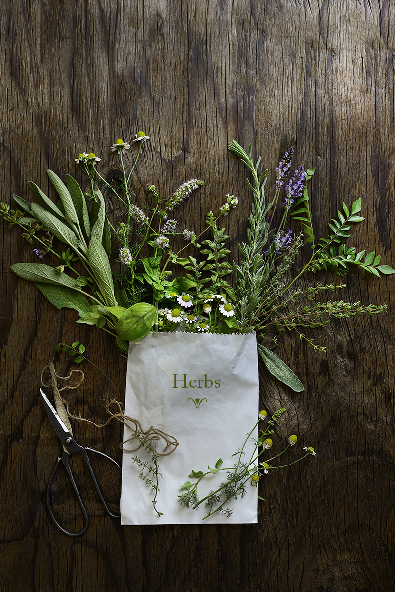 Herbs, bouquet garni, fresh, summer, in season now, flavor,  simi jois photography