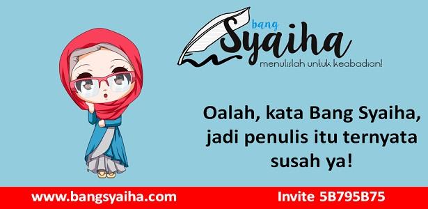 Bagaimana menerbitkan buku, perjalanan panjang menerbitkan buku, bang syaiha, www.bangsyaiha.com