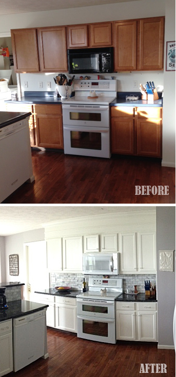 builder's grade kitchen transformation