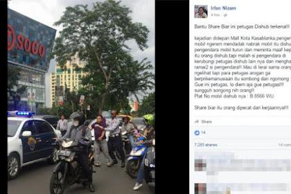 Kisah Sebenarnya Dibalik Foto Viral Petugas Dishub Keroyok Seorang Pengendara