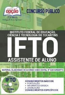 apostila Assistente de Aluno IFTO 2018
