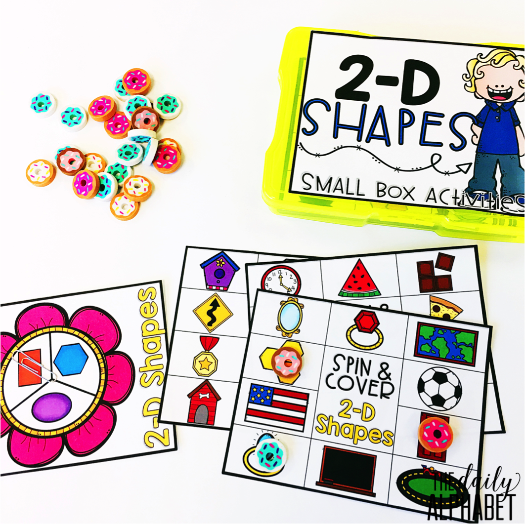 2d And 3d Shapes Small Box Activities