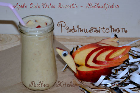 Apple Oats Smoothie with Dates