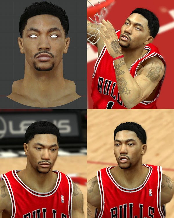 Derrick Rose Mini-Afro Curly Hair