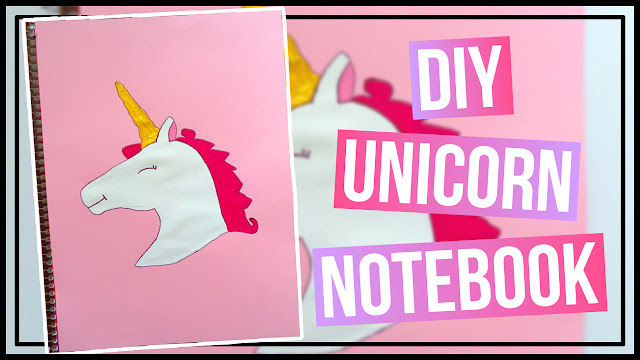 DIY Unicorn Notebook Cover