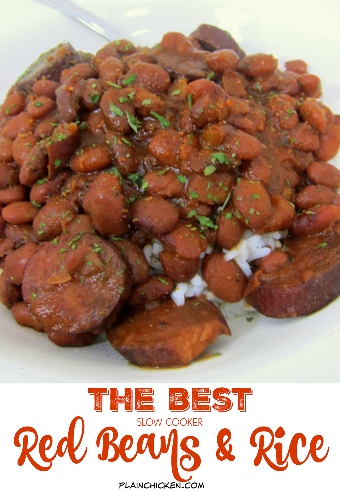 How to cook red beans and sausage in a crock pot