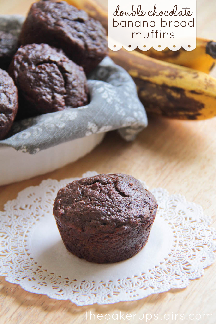 The Baker Upstairs Double Chocolate Banana Bread Muffins