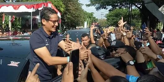Dapat Penghadangan, Sandiaga Gagal Kampanye di Pasar dan TPI Muncar