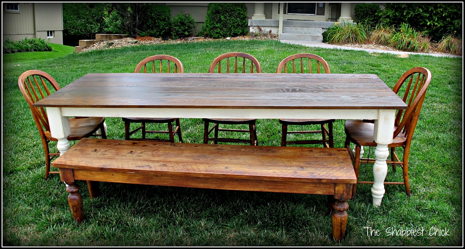 Large Farm Table Plans: The Shabbiest Chick: And Then I Built A Farm Table