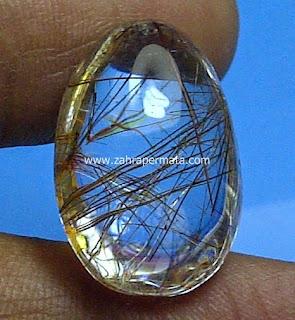 Batu Permata Kecubung Rambut Emas - ZP 459