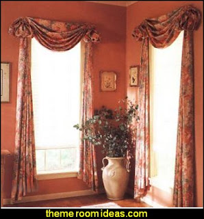 window treatments - curtains - window decorations - sheers - Drapes & Valance Sets - ruffled curtains - cornice - window murals - do-it-yourself window ideas - Room Dividers