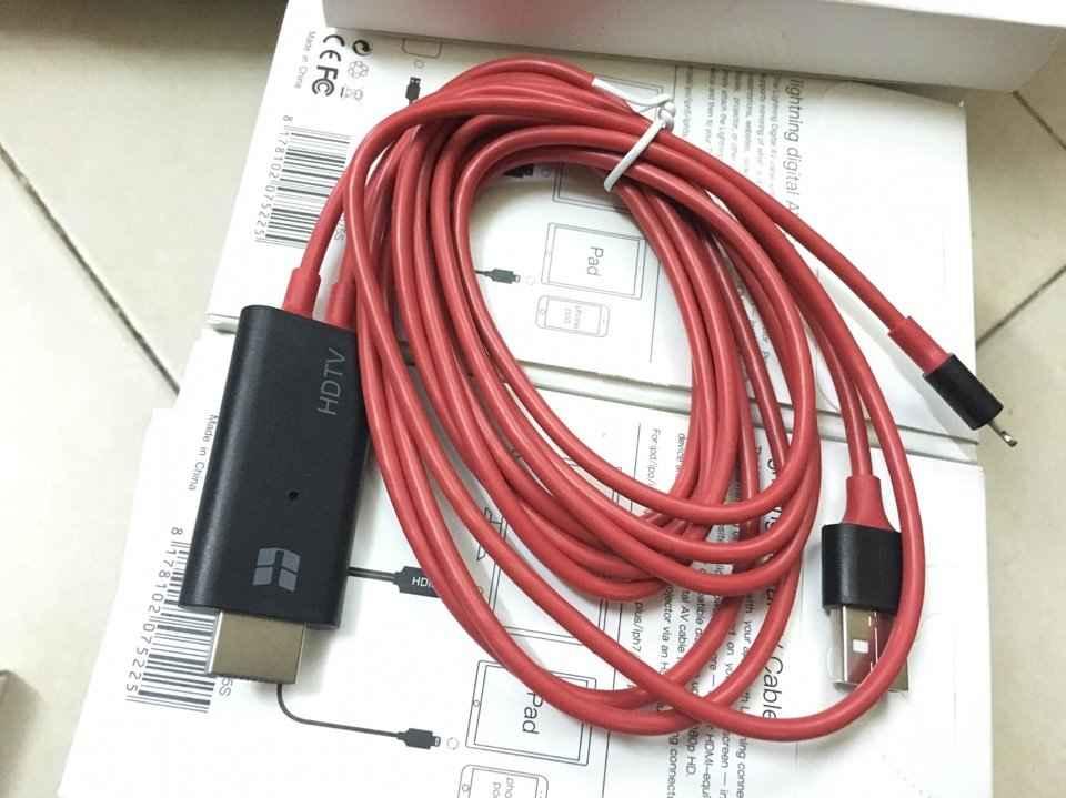 Cáp chuyển đổi Lightning iPhone 5 6 7 iPad Mini sang HDMI mẫu mới