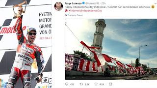 Postingan Jorge Lorenzo Bikin Heboh Netizen Aceh, Ada yang Bilang Dia 'Nyebeng' di Depan Masjid Raya