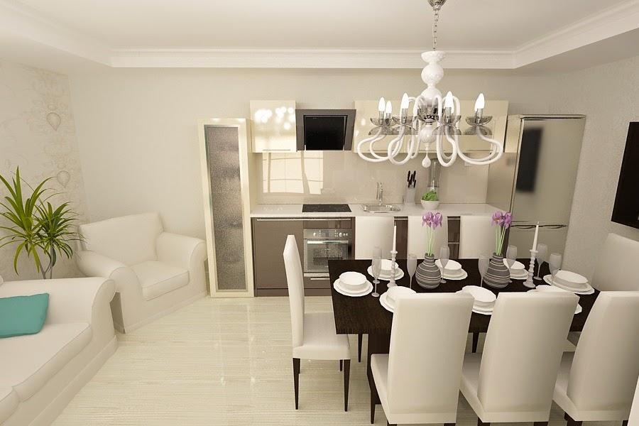 Design interior bucuresti - Design interior living cu bucatarie casa moderna