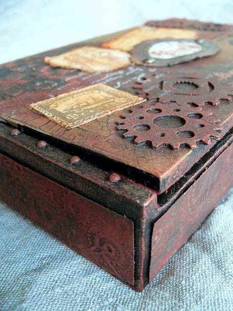 craft box ideas pappe ii altered cigar box nr 3 a tutorial 1437