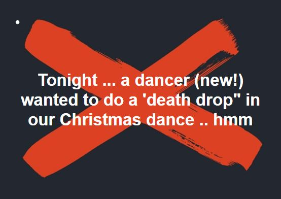 it started with a question about a death drop in a praise dance - Christmas Praise Dance