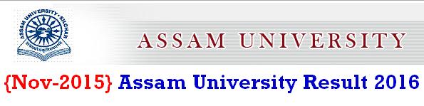 Assam University Result 2016